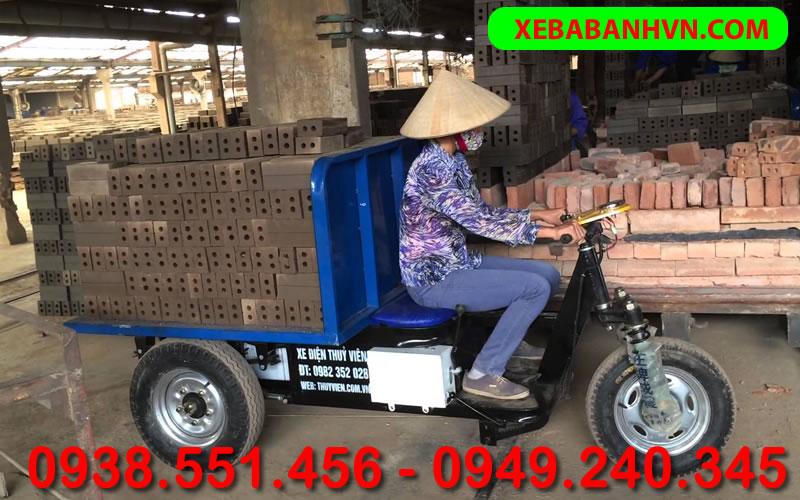 Xe ba bánh chở gạch - Xưởng sản xuất xe ba bánh Tiến Phát